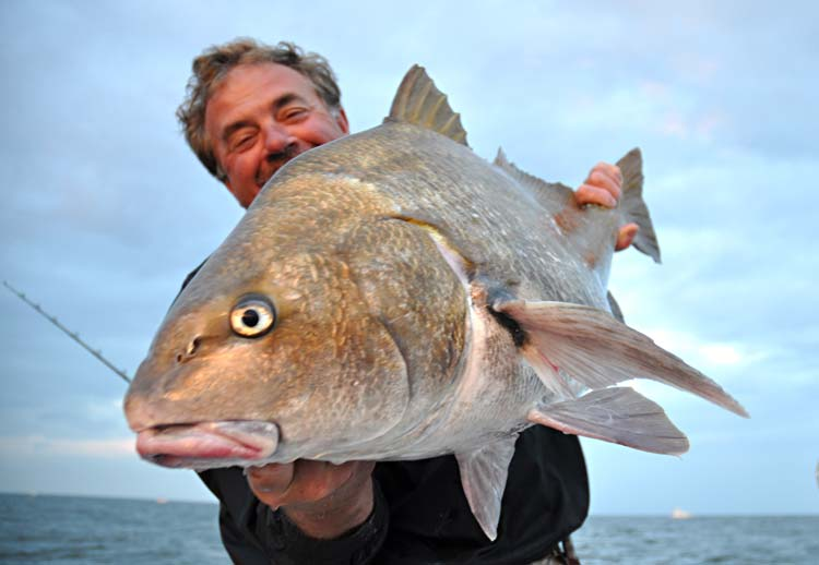 The author with a big black drum.