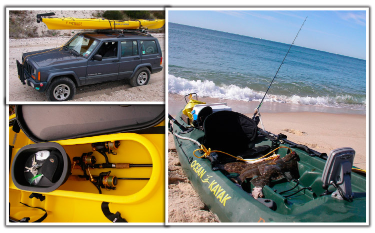 Ocean-faring kayaks rigged for fishing are a great weapon for targeting inshore species.